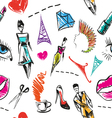 Seamless fashion pattern backgrounds vector image