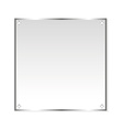 Silver sticker isolated object vector image