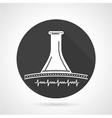 Stethoscope black round icon vector image
