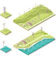Isometric wind farm vector image vector image