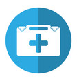 suitcase first aid medical shadow vector image