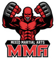 mma fighter mascot vector image