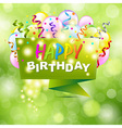 Happy Birthday Background With Origami vector image