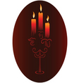 candlesticks with candles vector image vector image