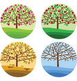 trees and seasons vector image