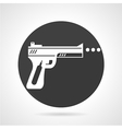 Airgun black round icon vector image
