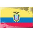 Ecuador national flag vector image vector image