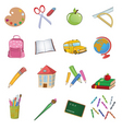 back to school design elements vector image