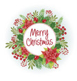 christmas design composition of poinsettia vector image