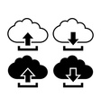 Cloud with arrow icon vector image