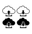 Cloud with arrow icon vector image