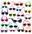 colorful sunglasses icon set isolated on white vector image
