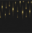 gold glitter stardust background sparkling lines vector image