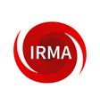 graphic symbol of hurricane irma vector image