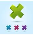 Green Stop Icon vector image