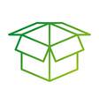 open cardboard box safety concept icon vector image