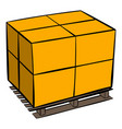 pallet icon cartoon vector image