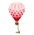 pink balloon with hearts tied to the ground vector image