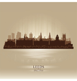 Leeds England skyline city silhouette vector image vector image