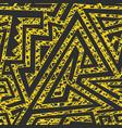 yellow grunge maze seamless pattern vector image