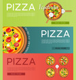 italian pizza banners set vector image vector image