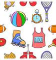 pattern sport equipment of art vector image