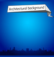 architectural blue background vector image