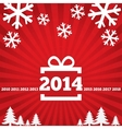 Happy New Year greeting card with flat icons vector image