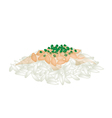 Fermented Soybean Natto with Spring Onion on Rice vector image