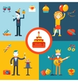 Gift Party Birthday Businessman character concept vector image