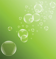 Green bubble background vector image