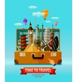 travel vacation logo design template vector image