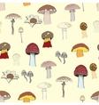 mushrooms pattern vector image