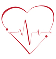 Heart cardiogram with heart on it vector image