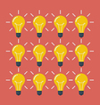 Light Bulbs Pattern Flat Style vector image vector image