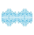 abstract border butterflies and flowers vector image