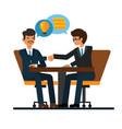 business negotiations businessmen shaking hands vector image
