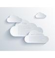 cloud design element vector image