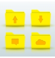 folders icons set on blue background Eps10 vector image