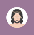 jesus christ with crown of thorns vector image