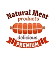 Natural meat products emblem vector image