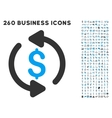Refresh Price Icon with Flat Set vector image