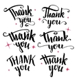 Thank you calligraphy collection vector image