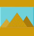 three pyramids of ancient egypt of blocks vector image