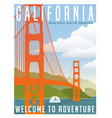 california travel poster or sticker vector image