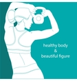healthy body  beautiful figure vector image vector image