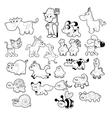 Farm animal family vector image