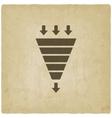 marketing funnel symbol old background vector image