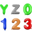 Number and alphabet vector image