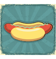 Hot dogs poster retro vector image